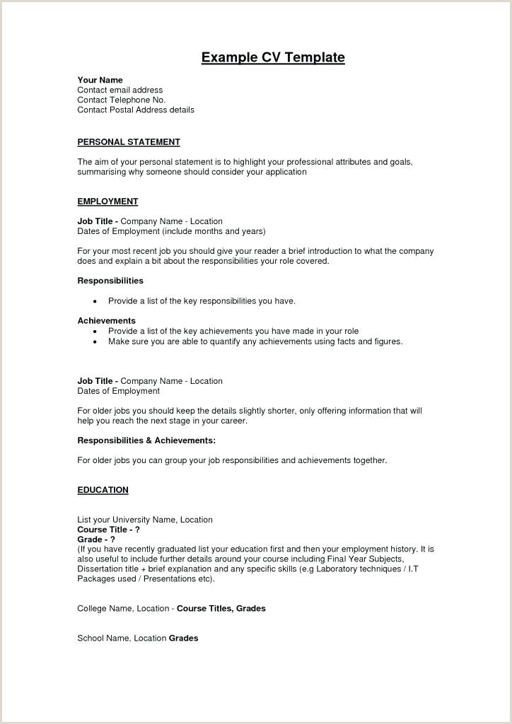 Cv format for Job In Pakistan First Resume Templates Template for High School Volunteer Cv