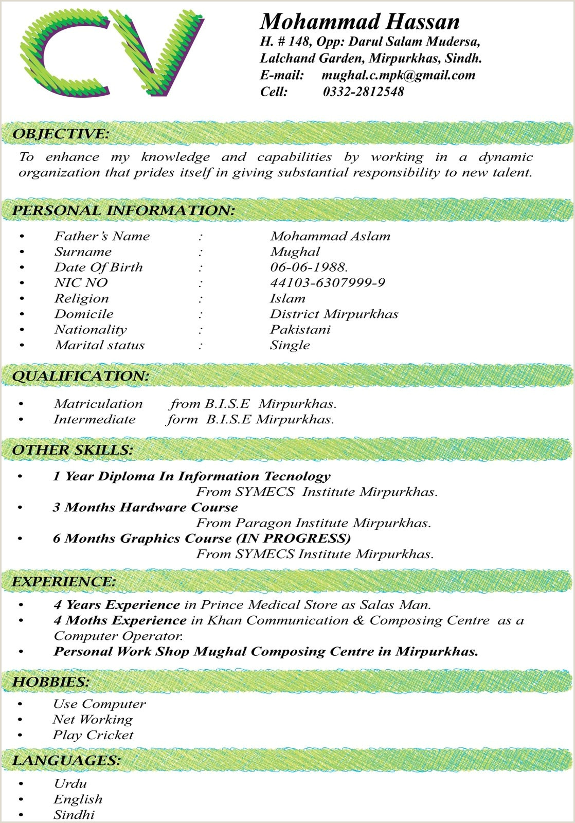Cv format for Job In Pakistan Write Cv for Job Filename Curriculum Vitae Tips Stunning