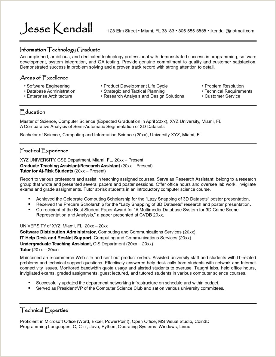 Cv Format For Job In Sri Lanka Curriculum Vitae Example For Graduate School Applicant