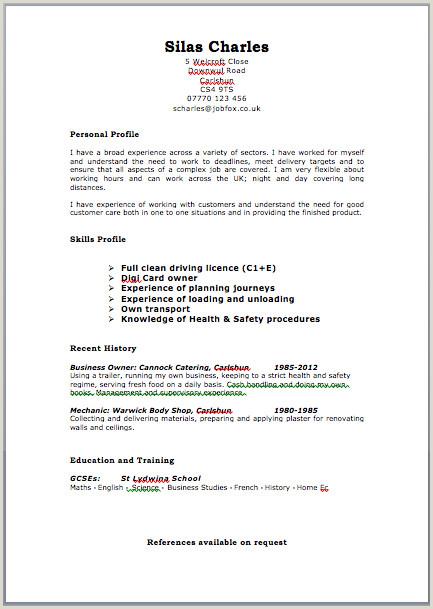 Cv Format For Job In Uk Cv Template Free Job Resume Format
