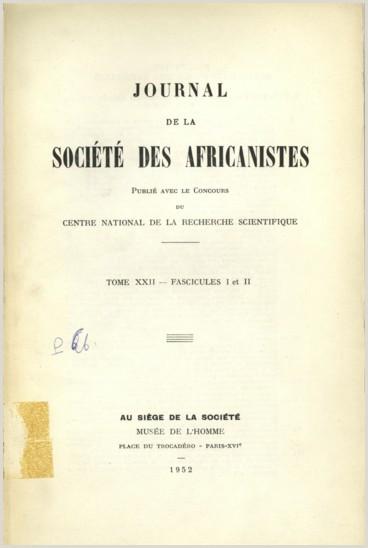 Cv Format For Job Kenya Bibliographie Africaniste Persée