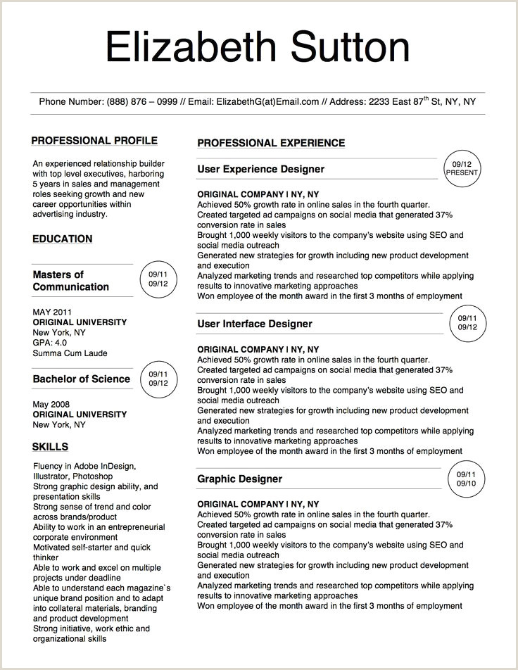 Cv original munication échantillon Cv Template New New
