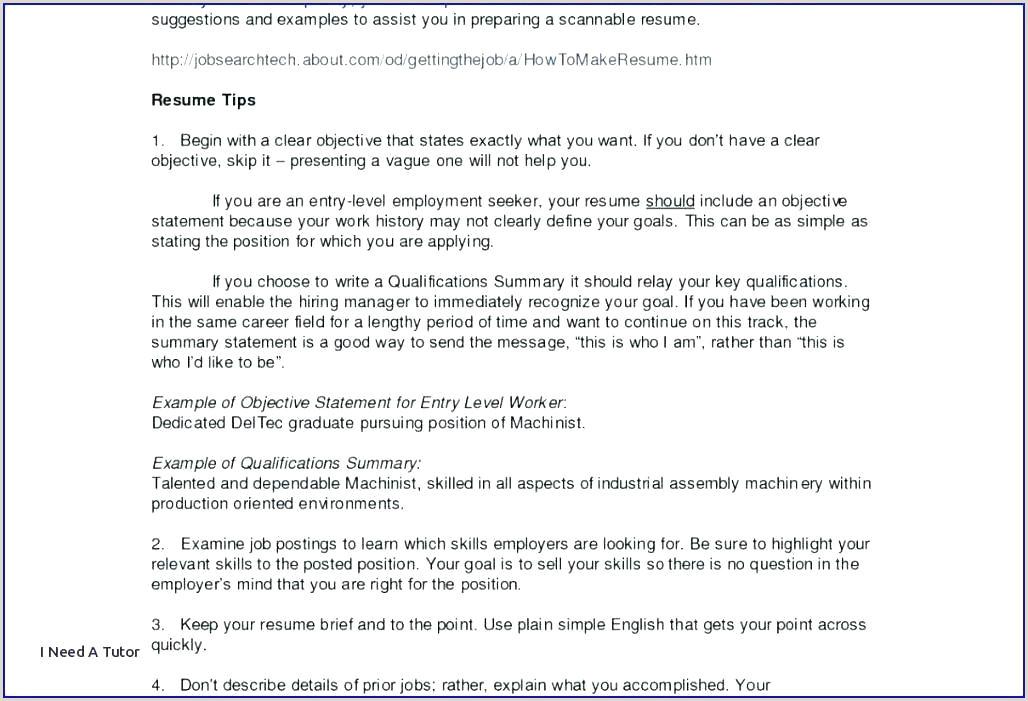 Simple English Cv Template