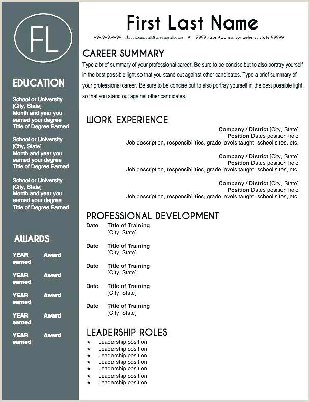 Cv format for Job Pakistan Cv Template for Teaching Job