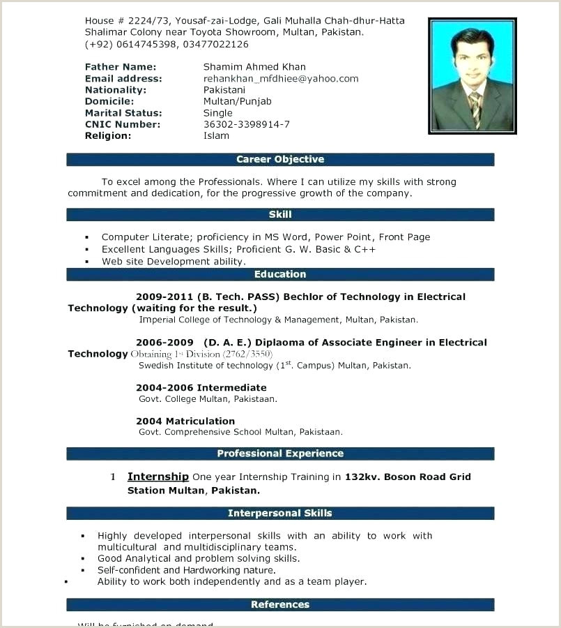 cv template word doc