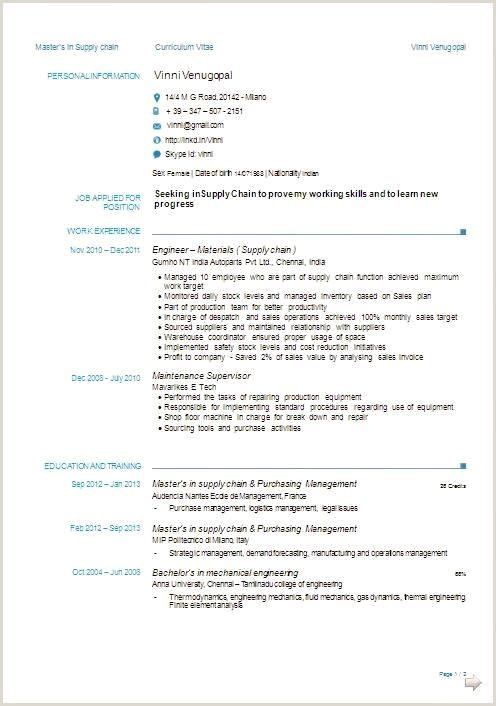 Cv format for Job Simple 41 Simple format De Cv Xenakisworld
