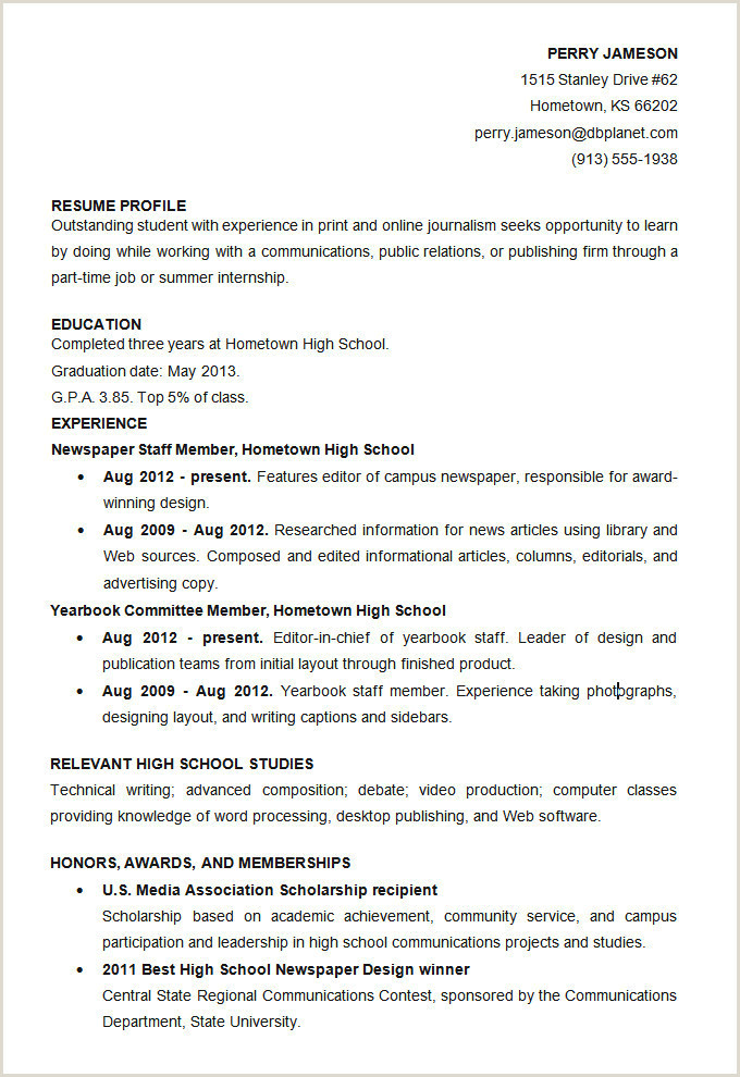 Cv format for Job Simple Resume High School Template Best Posing A Cv Writing A Cv Cv