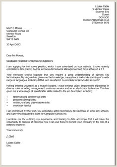 Example Cover Letter For Job Application South Africa