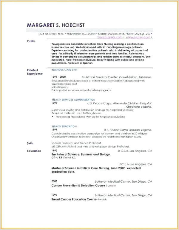 Description Profil Exemple Cv Schön Profil Cv Exemple