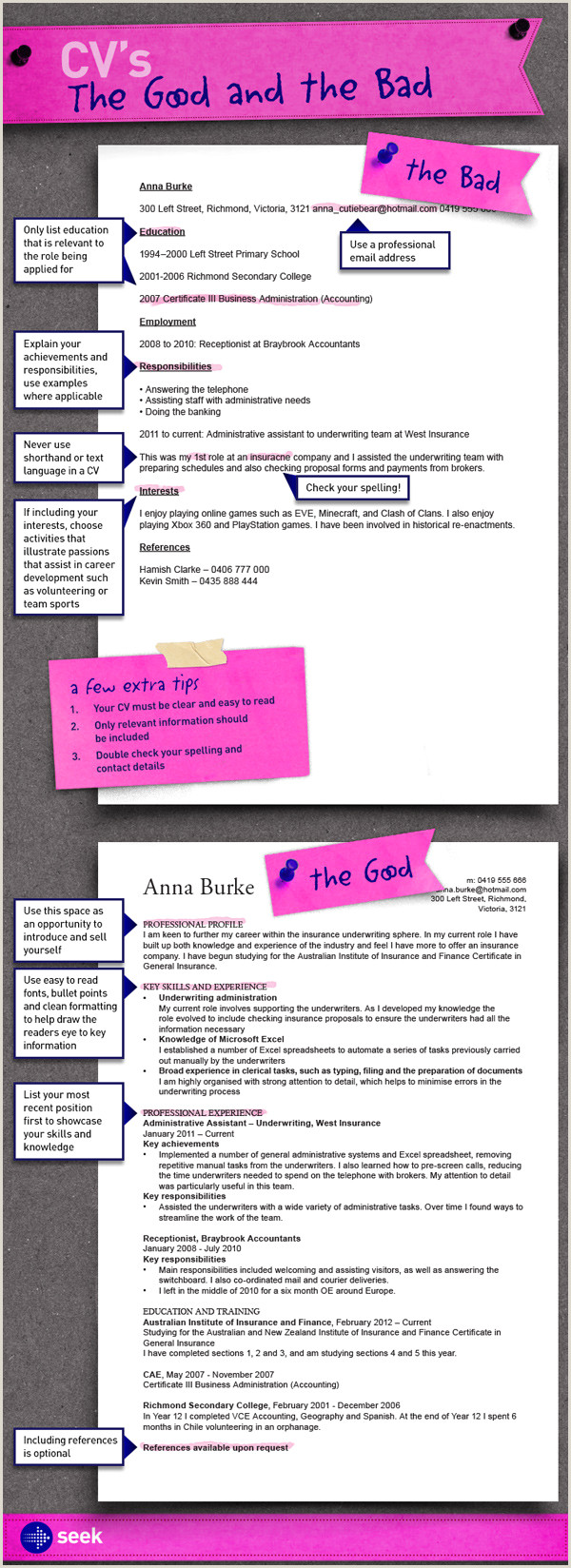 Cv format for Job Vacancy Cv S the Good and the Bad How to Write A Killer Cv to