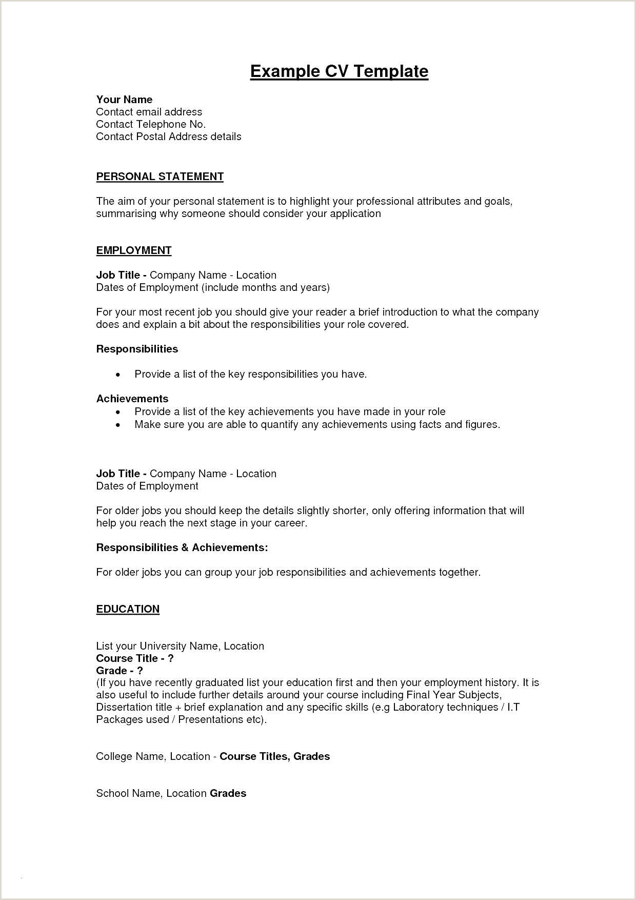 Cv format for Job with Photo Fresh Examples Resumes Ecologist Resume 0d What to Include