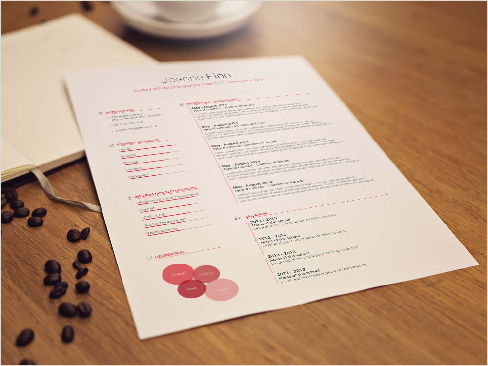 Cv format for Job Word Free Language Jobs Resume Template by andy Williams On Dribbble