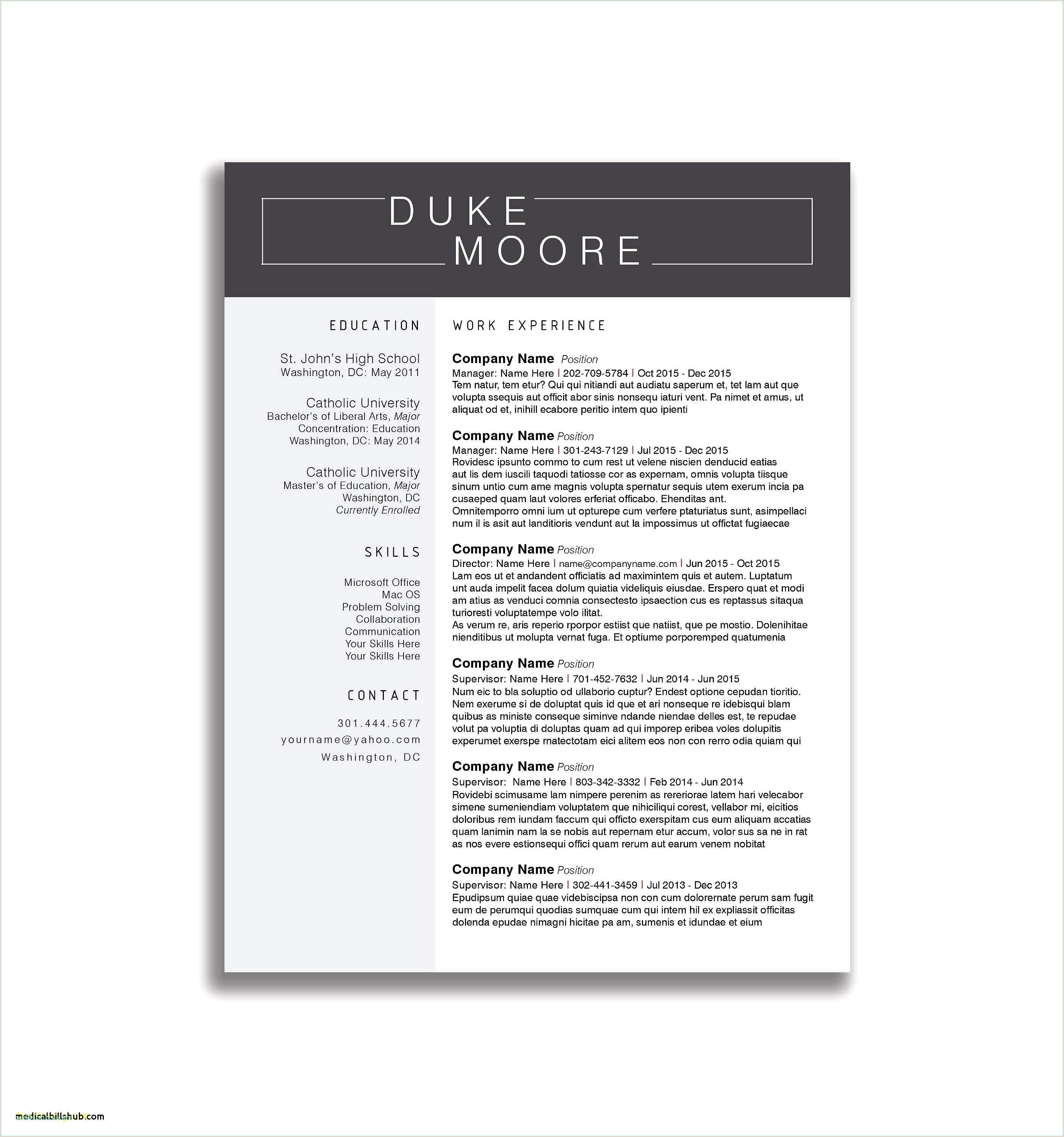 Cv format for Job Word Word Resume formats Sample Resume Template In Word