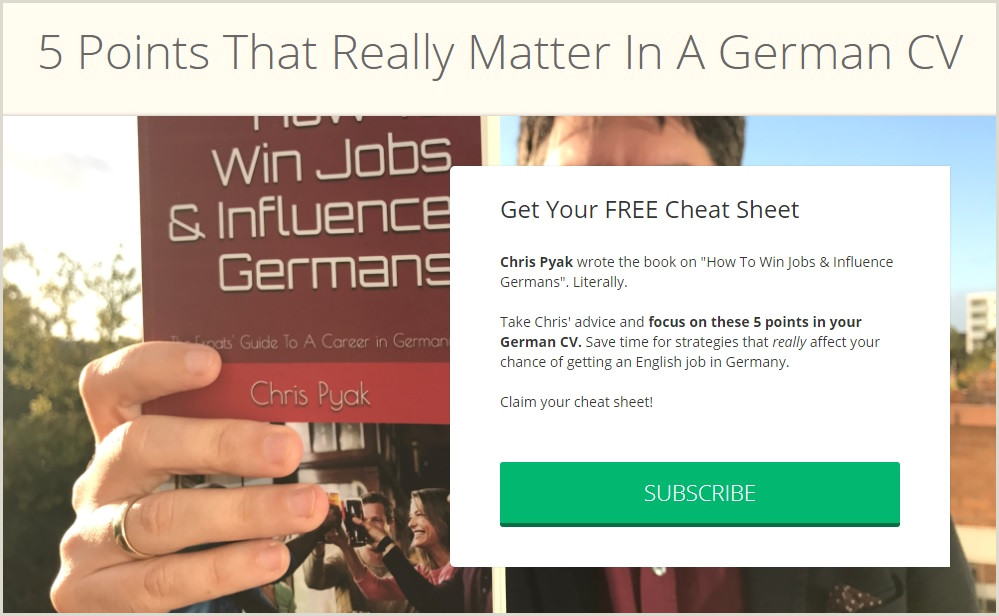 The Perfect CV in Germany Immigrant Spirit GmbH