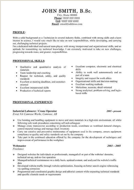 Cv Format For Labour Job Pin By Nicole Briannaa On Resumes Templates