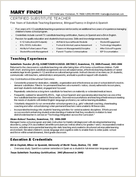 Cv format for Lecturer Job Sample Teacher Resumes