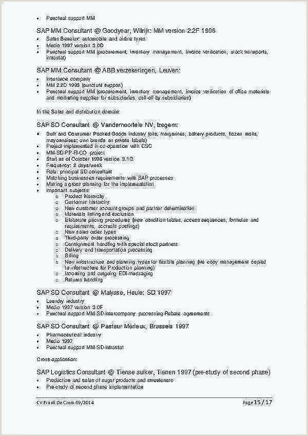 Cv Format For Logistics Fresher Sap Mm Consultant Sample Resume – Ha