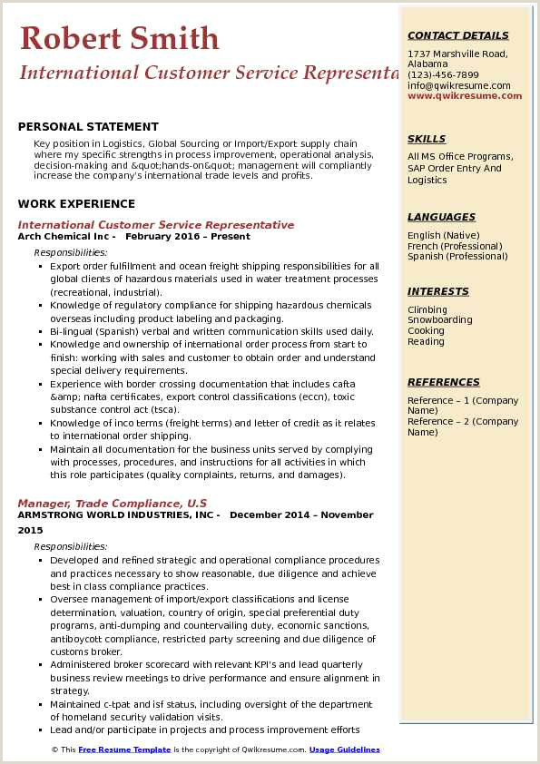 Cv format for Logistics Fresher Strengths In Resume for Experienced