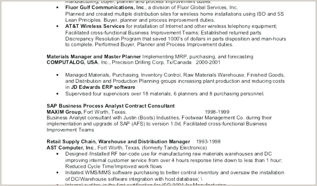Cv Format For Logistics Fresher Warehouse Distribution Manager Sample Resume – Podarki