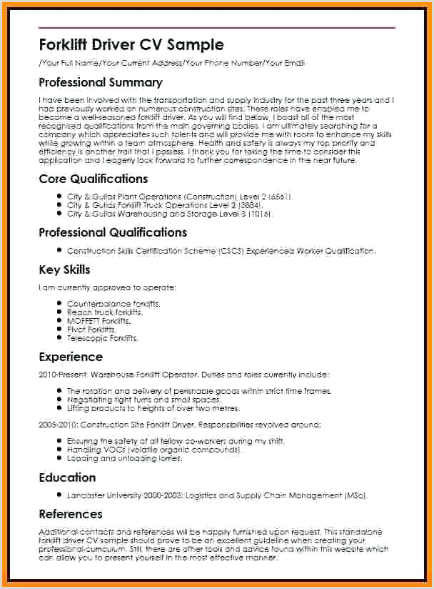 Cv format for Logistics Job Sample for Driver Delivery Cv Template Definition Powerpoint