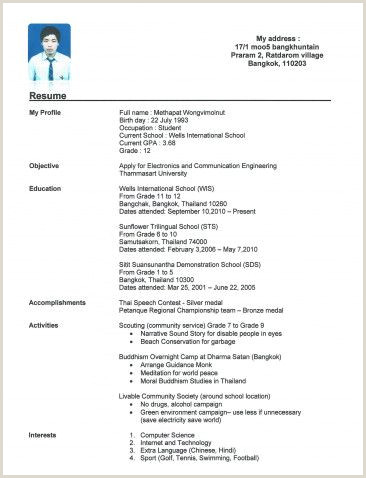 Inspirational Resume Examples for Highschool Students Your