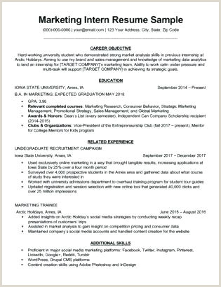 marketing job resume – joefitnessstore