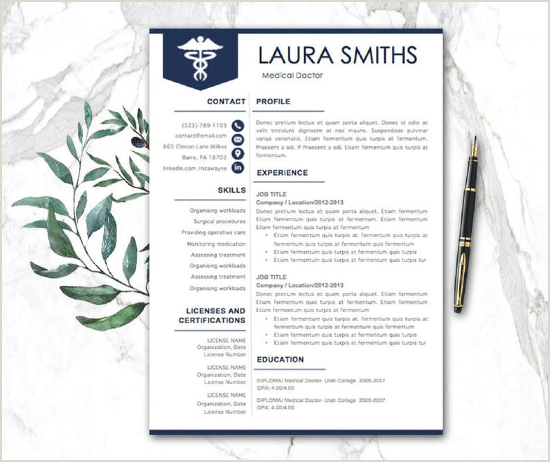 Doctor Resume Template Medical Resume Nurse Resume Resume Pages Nursing Resume Modern Resume