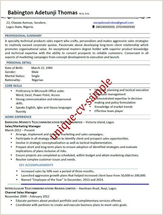 Cv format for Nigerian Jobs Image Result for Sample Of Curriculum Vitae In Nigeria