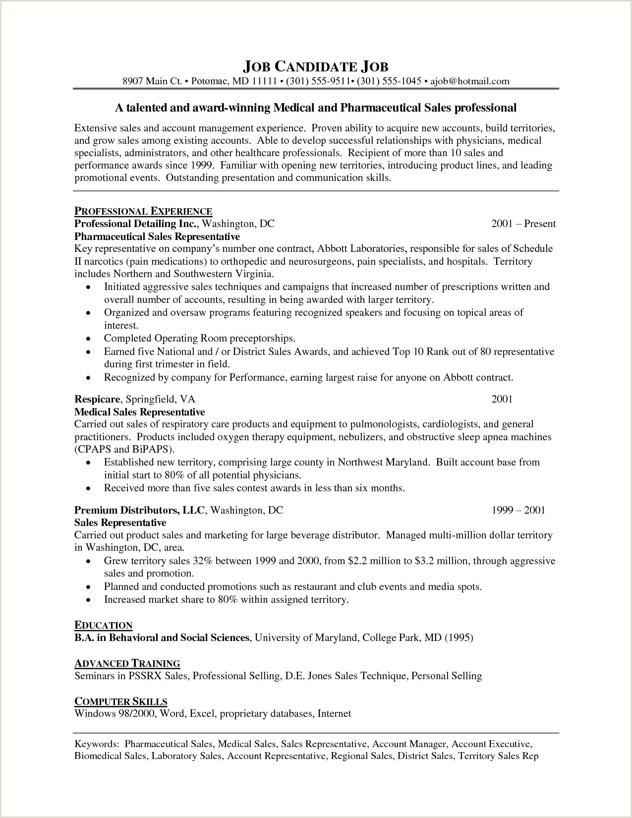 Cv format for Pharmaceutical Job Pharma Sales Resume Examples New Elegant Pharmaceutical