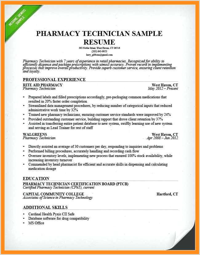 Cv format for Pharmacist Job 11 12 Retail Pharmacist Resume Examples