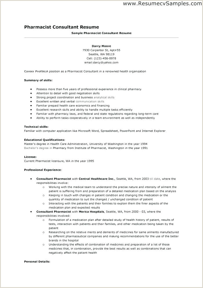 Cv format for Pharmacist Job Pharmacist Resume Example Objective Sample assistant Cv