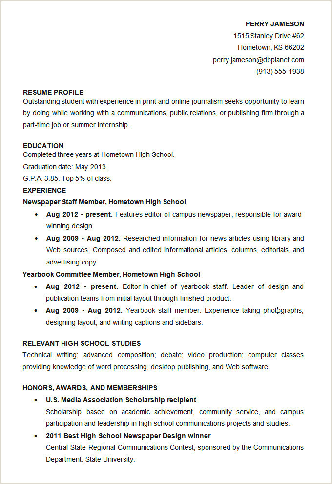Cv format for School Job 25 New School Resume Templates