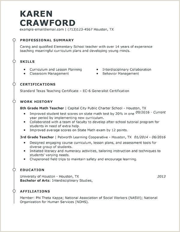 cv template for teaching job