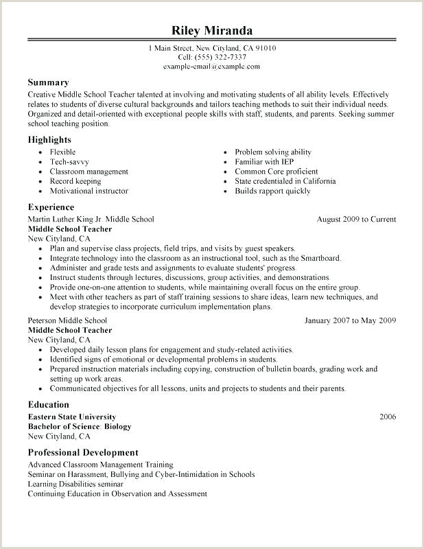 Cv format for School Teacher Job Pdf Cv Template for Teaching Job
