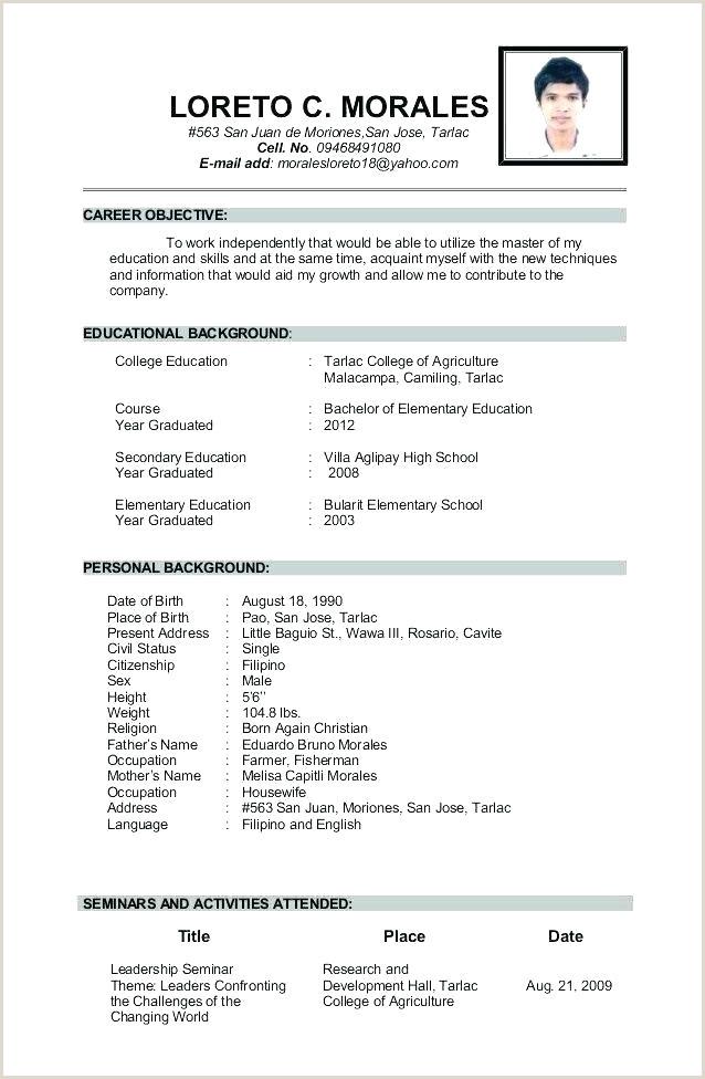 Cv format for Teacher Job In India Cv Template for Teaching Job