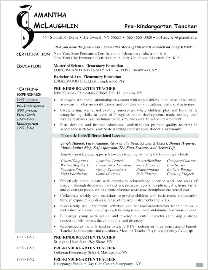 cv template for teaching position
