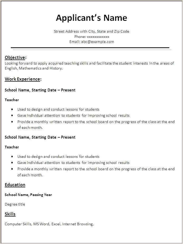 work resume format – airexpresscarrier