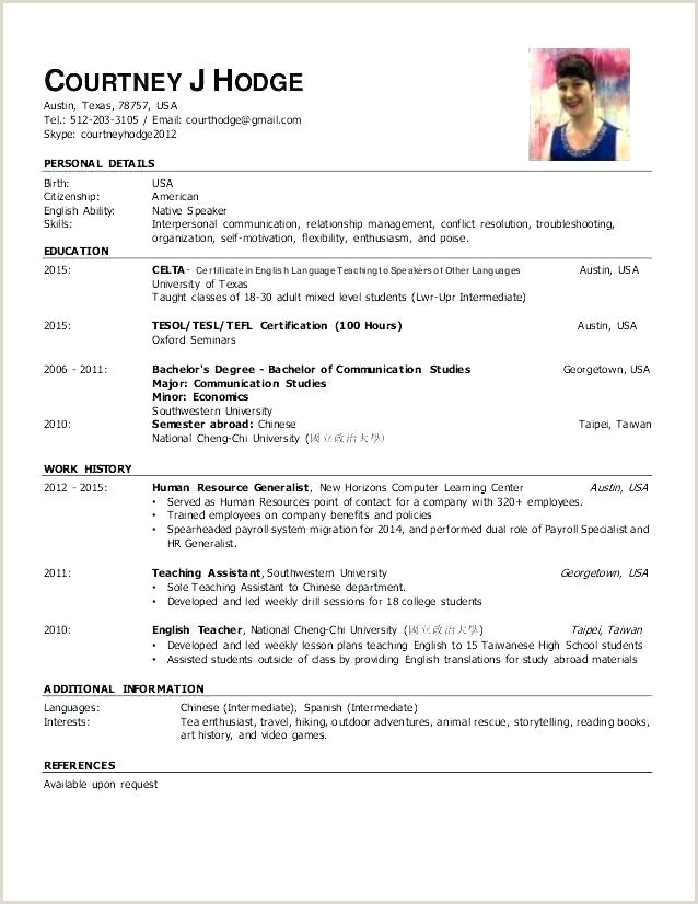 Tefl Cv Template Download Get Sample Doctor Free Samples
