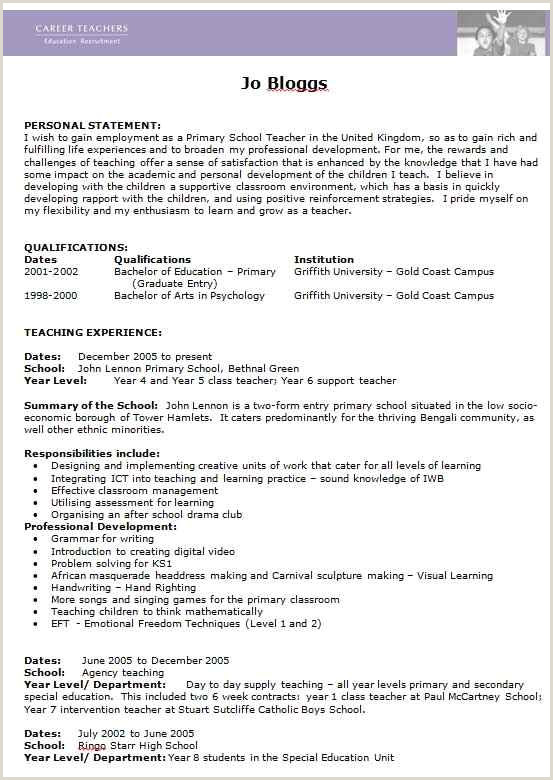 Cv format for Teaching Job Free Teacher Cv Template Collection Edit In Ms Word