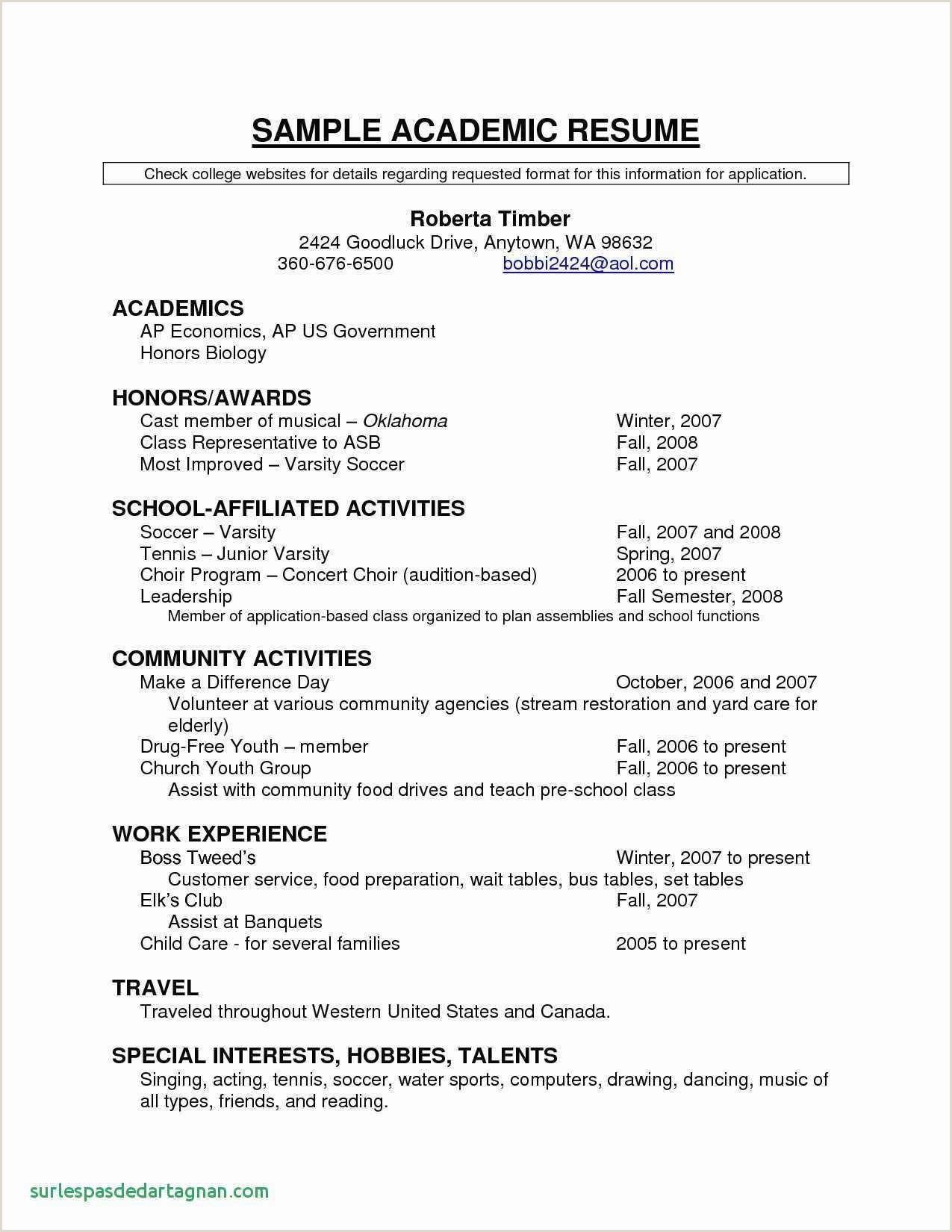 Good Resume For Teacher Job New Music Resume Template