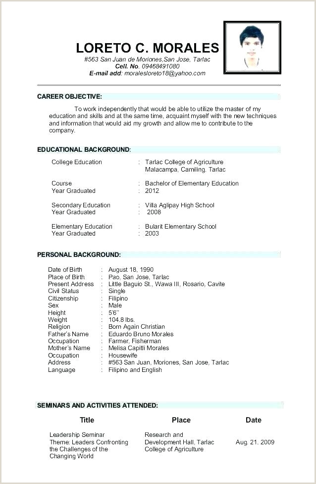 Cv format for Teaching Job In Pakistan Cv Template for Teaching Position