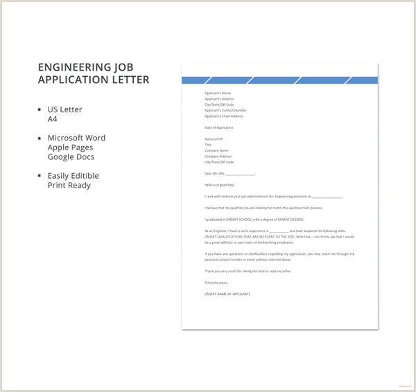 Job Application Letter For Engineer 11 Free Word PDF