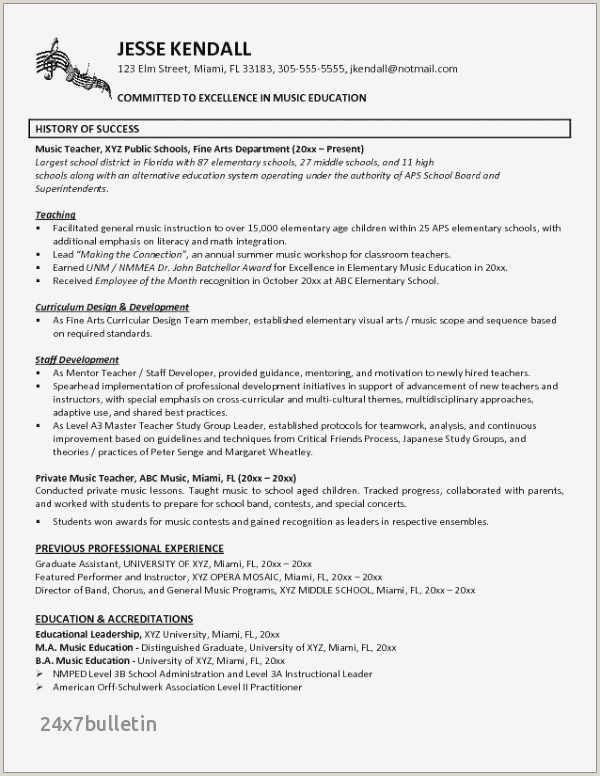 Cv format for Teaching Job In School Beautiful Visual Artist Cv Sample – 50ger