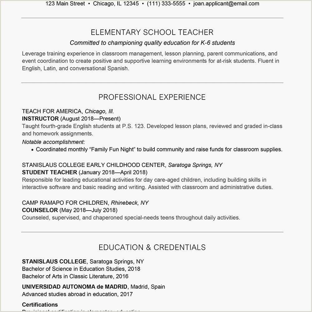 Cv format for Teaching Job In Uae Sample Cover Letter and Resume for A Teacher