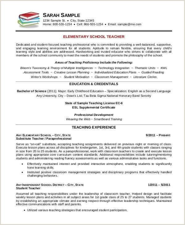 Resume Teaching Examples Sample Substitute Teacher Resume