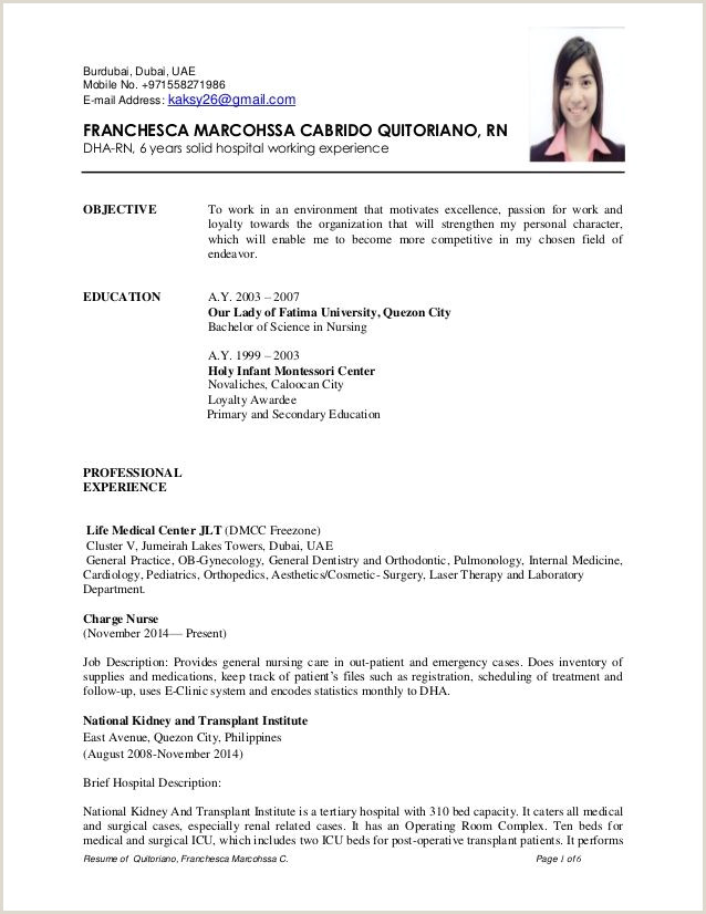 Professional Cv Format For Dubai Tips on How to Write a