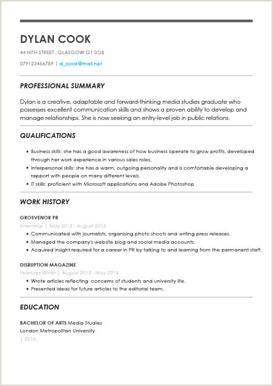 Cv format for Uk Jobs the Best Cv Templates by Industry and Job Titles