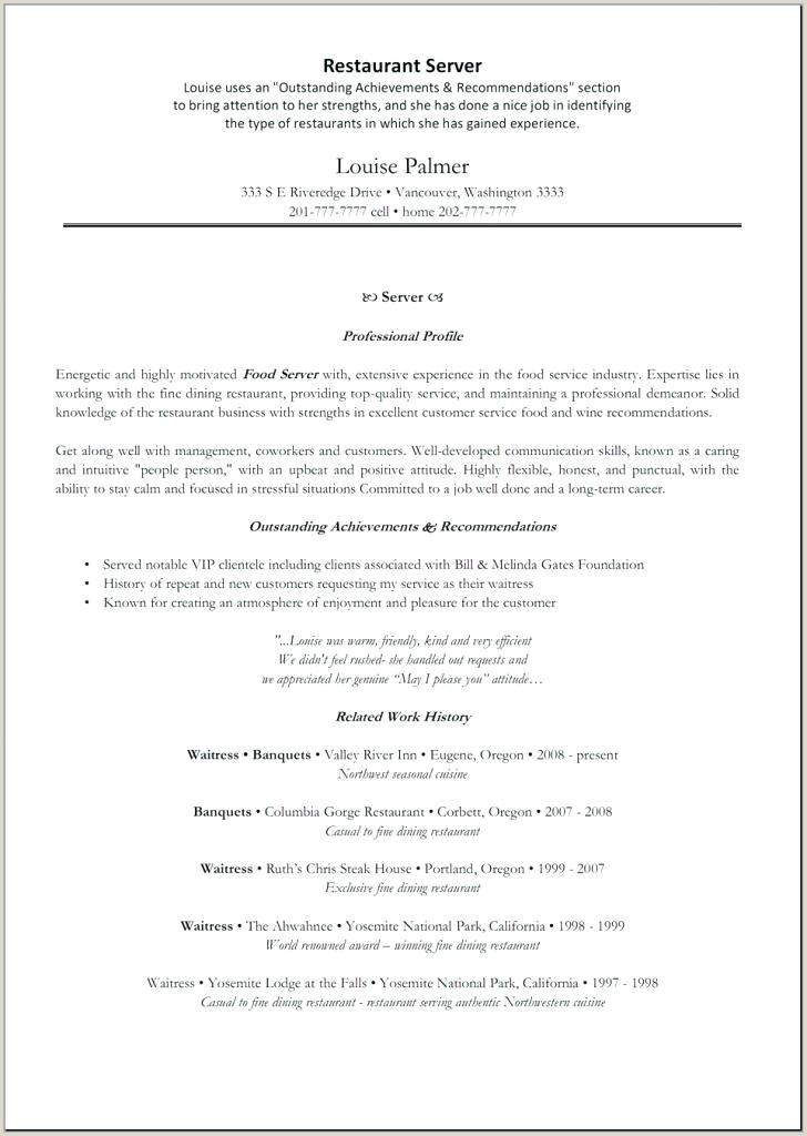 fine dining server resume sample – growthnotes