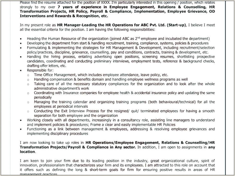 Cv format Hr Executive Fresher Executive Template Word Hr Resume Templates Cv format