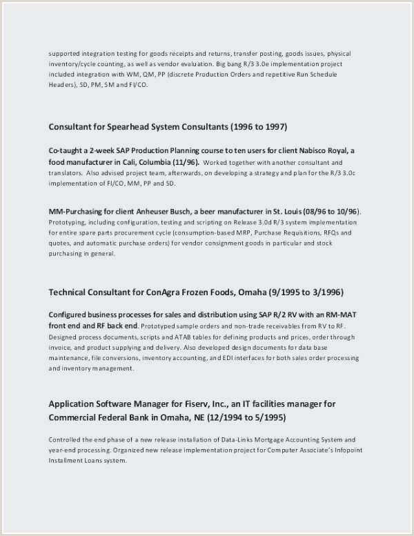 Cv Format Of Fresher New Sap Pp Fresher Resume